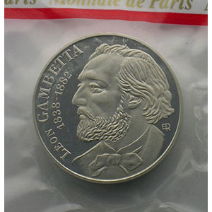 G.815P   10 Francs   1982 argent   Gambetta    FDC
