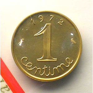 G.91P   1 Centime   1972    FDC