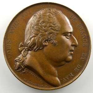 Gayrard/De Puymaurin   Médaille en bronze  41mm   1814    SUP/FDC