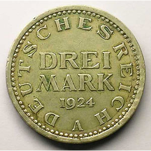 GDM 30   3 Mark   1924 A    TB+/TTB