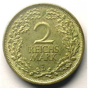 GDM 32   2 Reichsmark   1926 D    TTB+/SUP