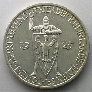 GDM 60   5 Reichsmark   1925 F   Rheinlande    TTB+