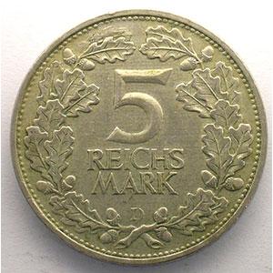 GDM 60   5 Reichsmark   1925 J   Rheinlande    TTB+