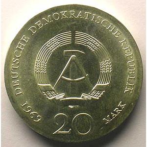 GDM 719   20 Mark   Johann Wolfgang von Goethe   1969    FDC