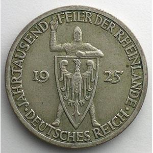 GDM 73   3 Reichsmark   1925 A   Rheinlande    TTB