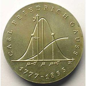 GDM 732   20 Mark   Carl Friedrich Gauss   1977    SUP/FDC