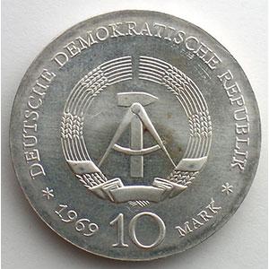 GDM 754   10 Mark   Johann Friedrich BÖTTGER   1969    FDC