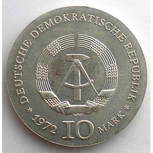 GDM 758   10 Mark   Heinrich HEINE   1972    SUP/FDC