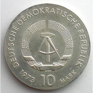 GDM 759   10 Mark   Bertolt BRECHT   1973    FDC