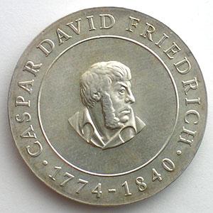 GDM 761   10 Mark   Caspar David FRIEDRICH   1974    FDC