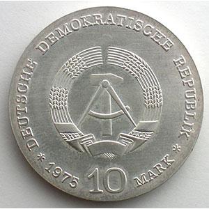 GDM 764   10 Mark   Albert SCHWEITZER   1975    FDC