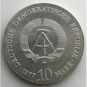 GDM 768   10 Mark   Otto von Guericke   1977    FDC