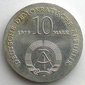 GDM 771   10 Mark   Ludwig FEUERBACH   1979    FDC
