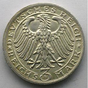 GDM 80   3 Reichsmark   1928 A   Naumburg/Saale, 900 Jahre Stadtrecht    SUP