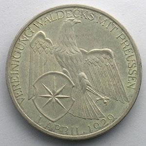 GDM 83   3 Reichsmark   1929 A   Waldeck, Vereinigung mit Preussen    TTB+/SUP