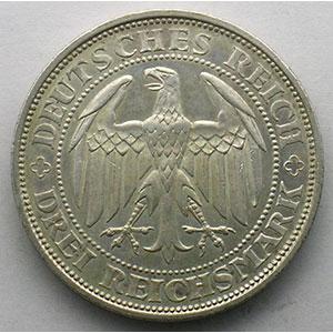GDM 84   3 Reichsmark   1929 E   Meissen, 1000 Jahre Burg und Stadt    TTB+