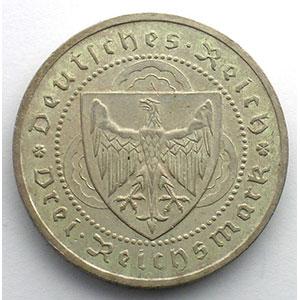 GDM 87   3 Reichsmark   1930 A   Walther von der Vogelweide    TTB+/SUP