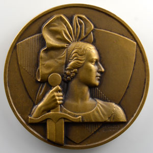 Georges Guiraud   Médaille en bronze 50mm   (Navire le) Strasbourg    SUP