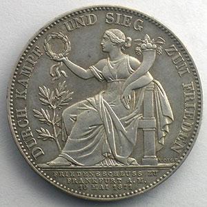 Geschichtstaler   1871    TTB+/SUP