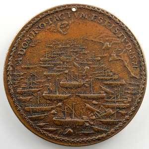 Giovanni Antonio De Rossi   Médaille en bronze   41mm   Bataille de Lépante    TTB