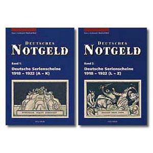 GRABOWSKI/MEHL   Deutsche Serienscheine von 1918-1922  tome 1 (A-K)  tome 2 (L-Z)