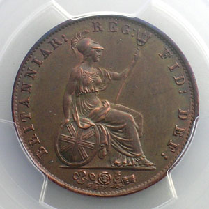 Halfpenny   1838   PCGS-MS62BN    SUP/FDC