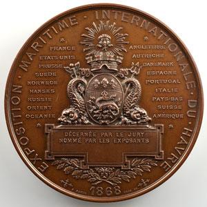 HAMEL/TROTIN   Exposition Maritime Internationale du Havre   Médaille en cuivre   61mm    SUP