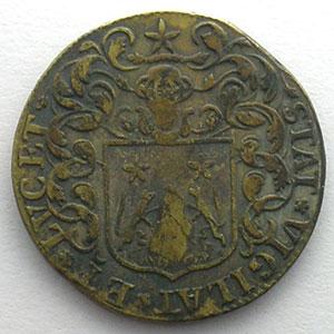 Henri-François Poutet   (1683-1688)   1683   cuivre    TB+/TTB