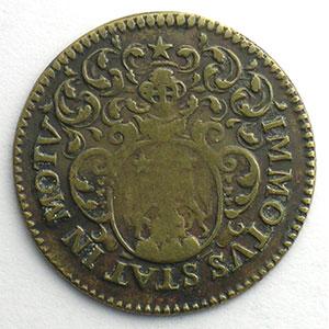 Henri-François Poutet   (1683-1688)   1686   cuivre    TB+