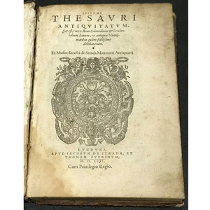 Iacobi de Strada (Jacques de Strada) Epitome Thesavri Antiqvitatvm   édition en latin de MDLIII (1553)