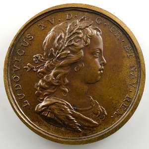 J.C.Roettiers/J.Duvivier   Progrès du Roi   bronze   41mm    SUP/FDC