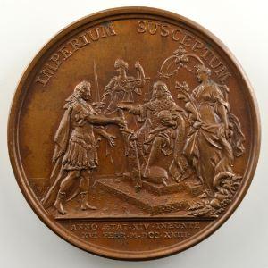 J.Duvivier/J.Le Blanc   La Majorité du Roi   16 février 1723   bronze   41mm    SUP/FDC