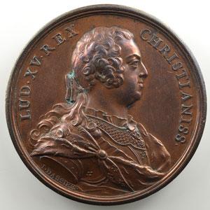 Jean Dassier   Médaille en bronze 54.5mm   Louis XV   Restitution de Bâle   1740    SUP