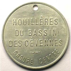Jeton de Chauffage   Bon 2 sacs de bois   Alu, R tr  38,5mm    TTB+