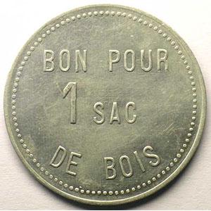 Jeton de Chauffage   Bon pour 1 sac de bois   Alu, R  38,5mm    TTB+/SUP