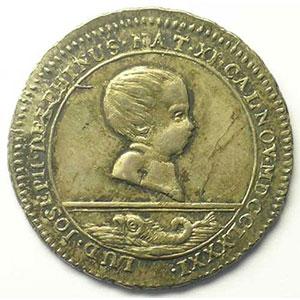 Jeton en argent  30mm   Jubilé de 1781   Naissance du Dauphin    SUP/FDC