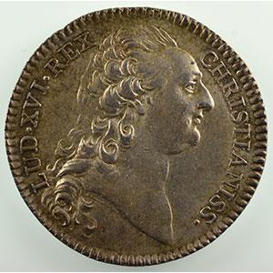 Jeton en argent   Louis XVI    TTB+/SUP