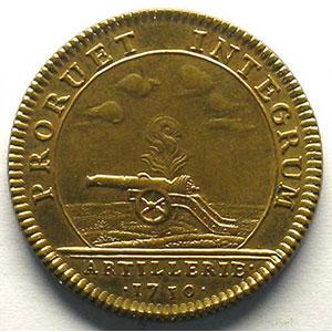 jeton en cuivre doré   29mm   L. Aug. de Bourbon   1710 refrappe XIX°    FDC