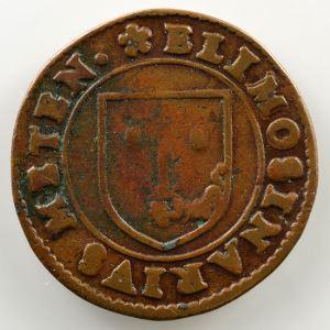 Jeton en cuivre   Jean Dubois, aumônier de la Cathédrale de Metz   1615    TB+