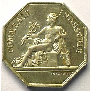 Jeton octogonal en argent   16 juillet 1846    TTB+