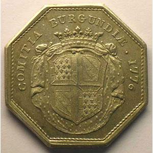 Jeton octogonal en argent   1776    TTB+