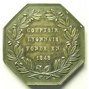 Jeton octogonal en argent   1848    SUP
