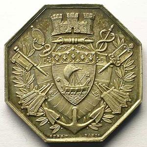 Jeton octogonal en argent   1878    SUP/FDC