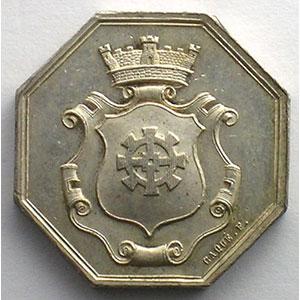 Jeton octogonal en argent   23mm    TTB+/SUP