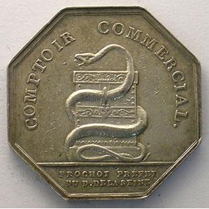 Jeton octogonal en argent   AN X    TTB