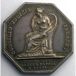 jeton octogonal en argent   Cour d'appel à Paris    SUP