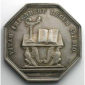 jeton octogonal en argent   Cour d'appel à Paris    TTB+/SUP