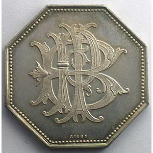 Jeton octogonal en argent    FDC