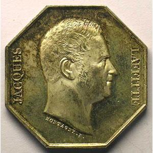 Jeton octogonal en argent    Jacques Laffitte    SUP