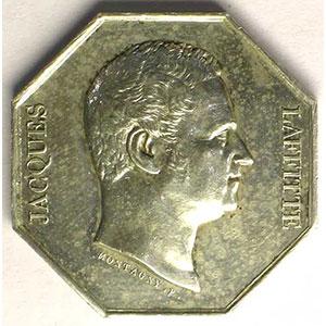 Jeton octogonal en argent    Jacques Laffitte    TTB+/SUP